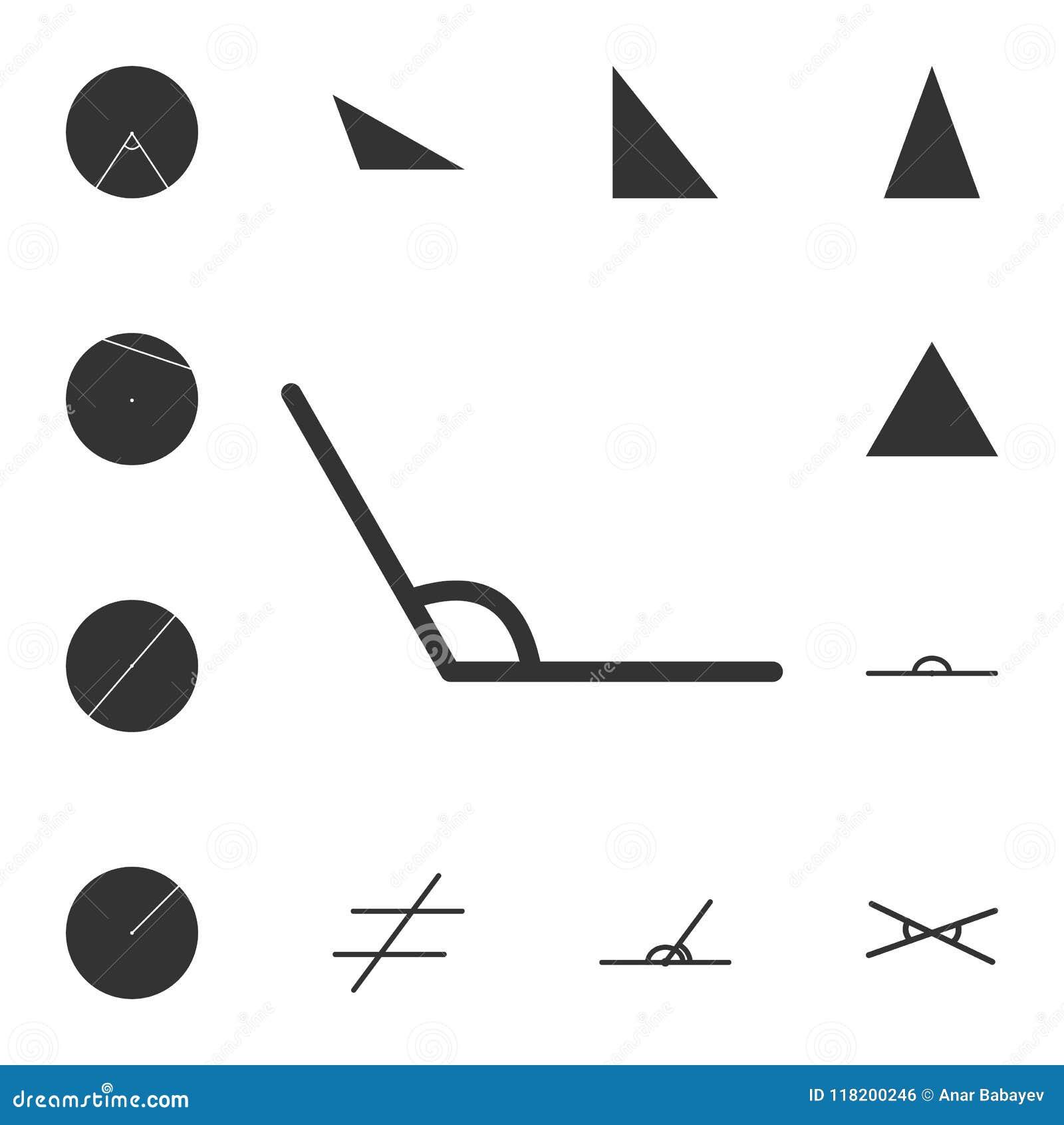 Obtuse Angle Icon Detailed Set Of Geometric Figure Premium Graphic