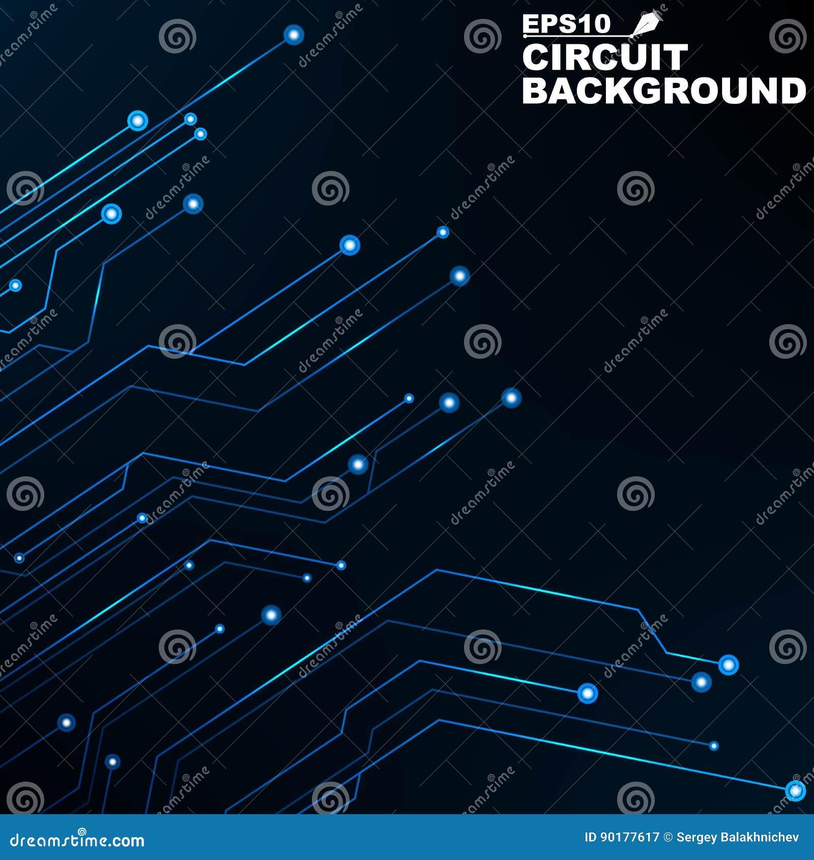 Obwód Czarny abstrakcjonistyczny tło technologia cyfrowa Nowe technologie w projekcie 3d odpłacający się sieć komputerowa obrazek