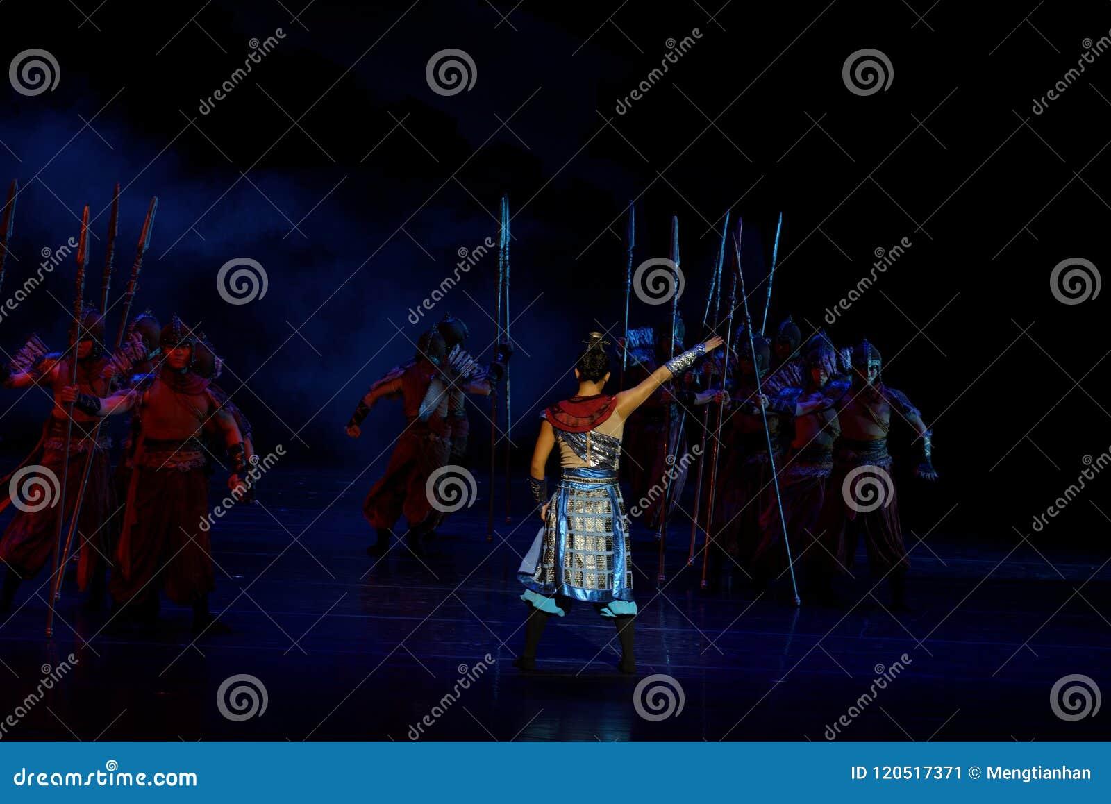 Obwódki cztery aktu customs odprawy ` zagradzający ` - Epickiego tana dramata ` Princess Jedwabniczy `