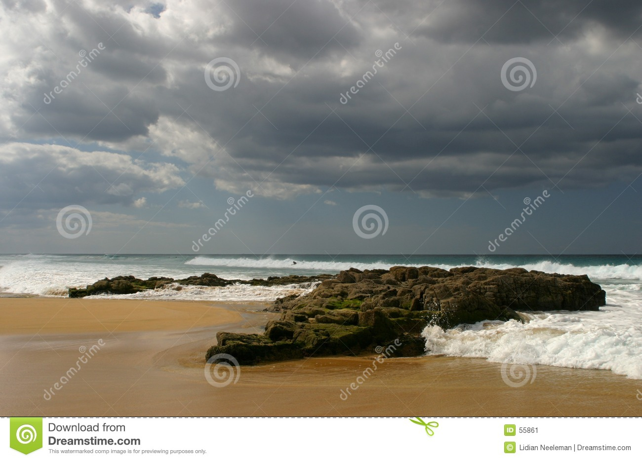Download Océan image stock. Image du roche, outside, shallow, ondes - 55861