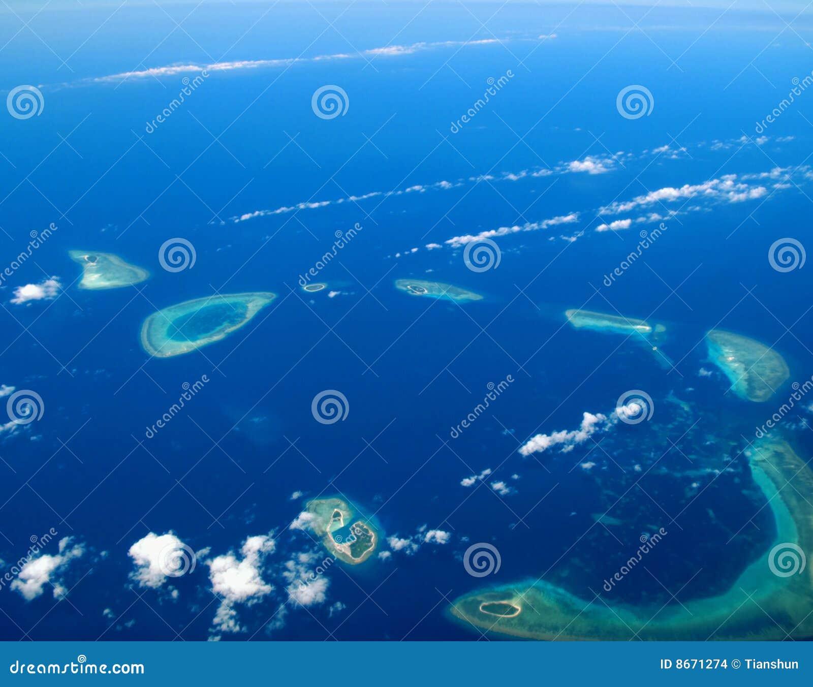 Océan corallien d île