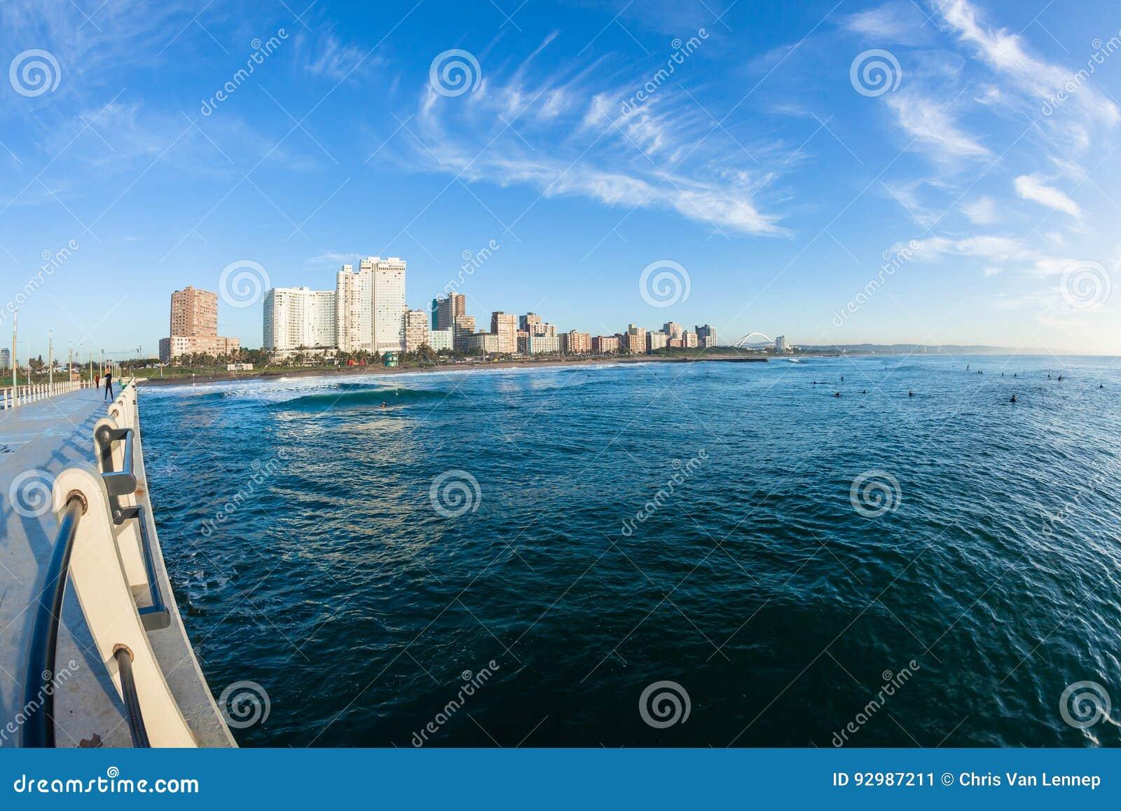 Océan Pier Beachfront Coastline de Durban