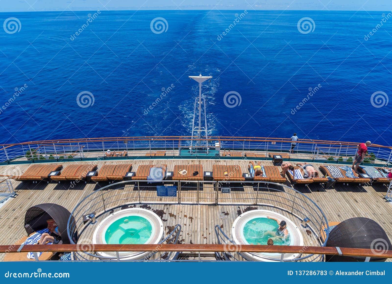 Océano de South Pacific, Australia - cubierta trasera del trazador de líneas de la travesía de P&O