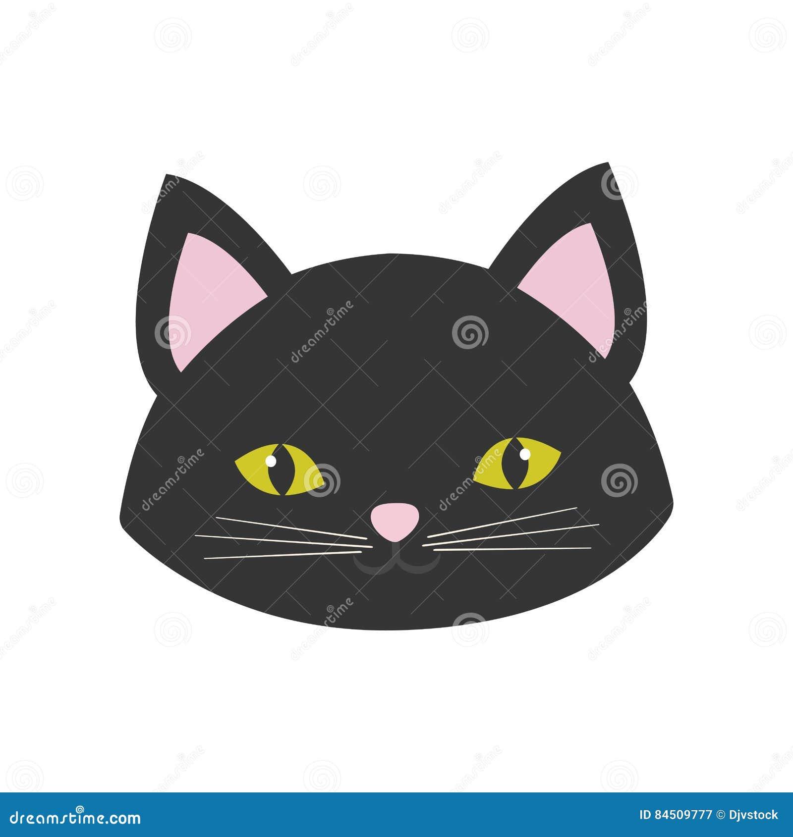 Occhi rosa svegli di giallo delle orecchie del ritratto del gatto