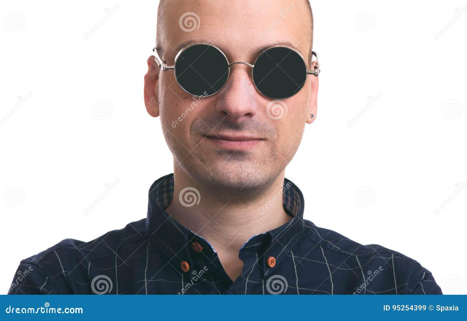 Dell'uomo Anawzzosqa Sole Da D'uso Stock Occhiali Immagine Bello Calvo q7vfOxgg