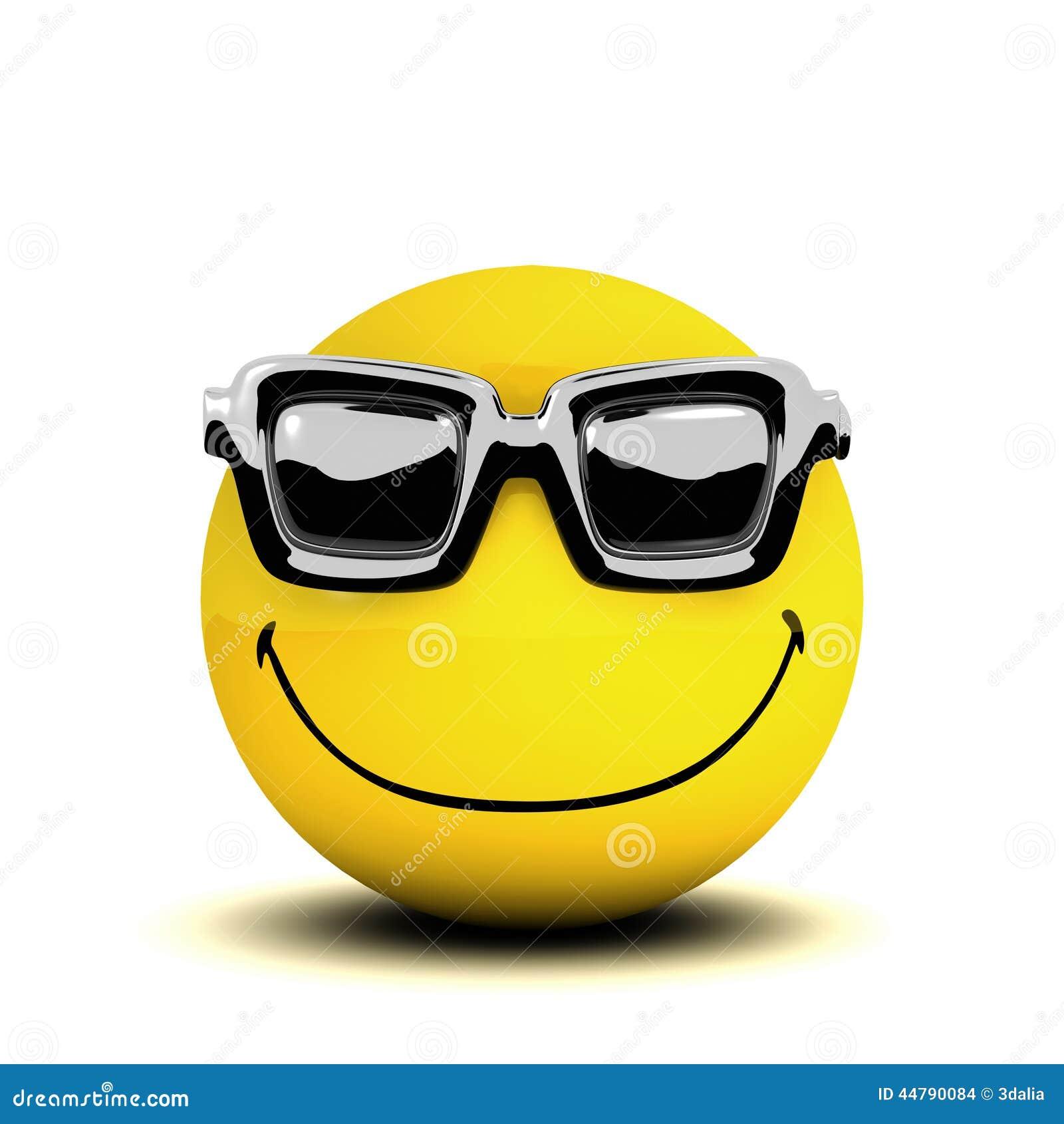 Occhiali da sole di smiley 3d