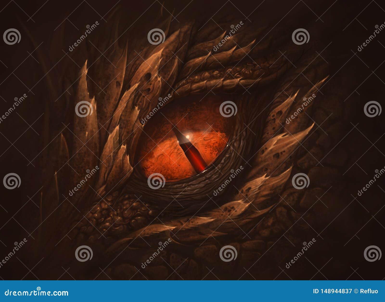 Occhio del drago di fantasia