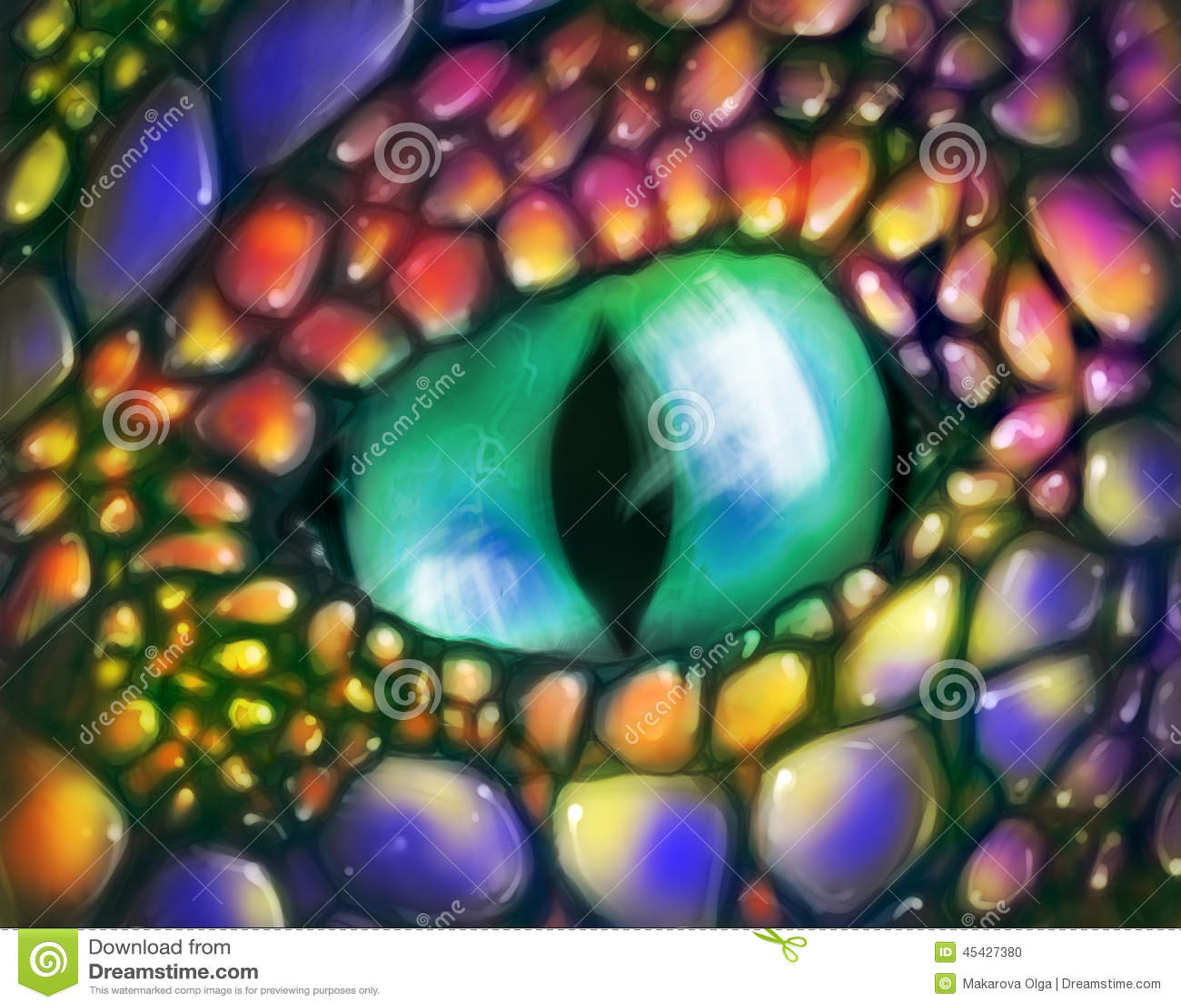 Occhio del drago verde