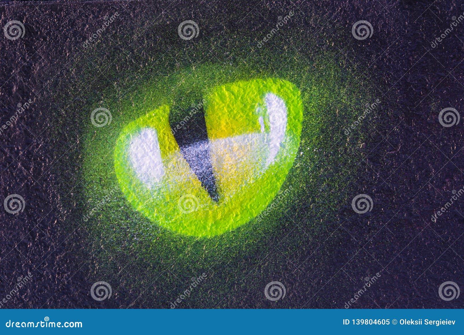 Occhio del gatto s sul nero