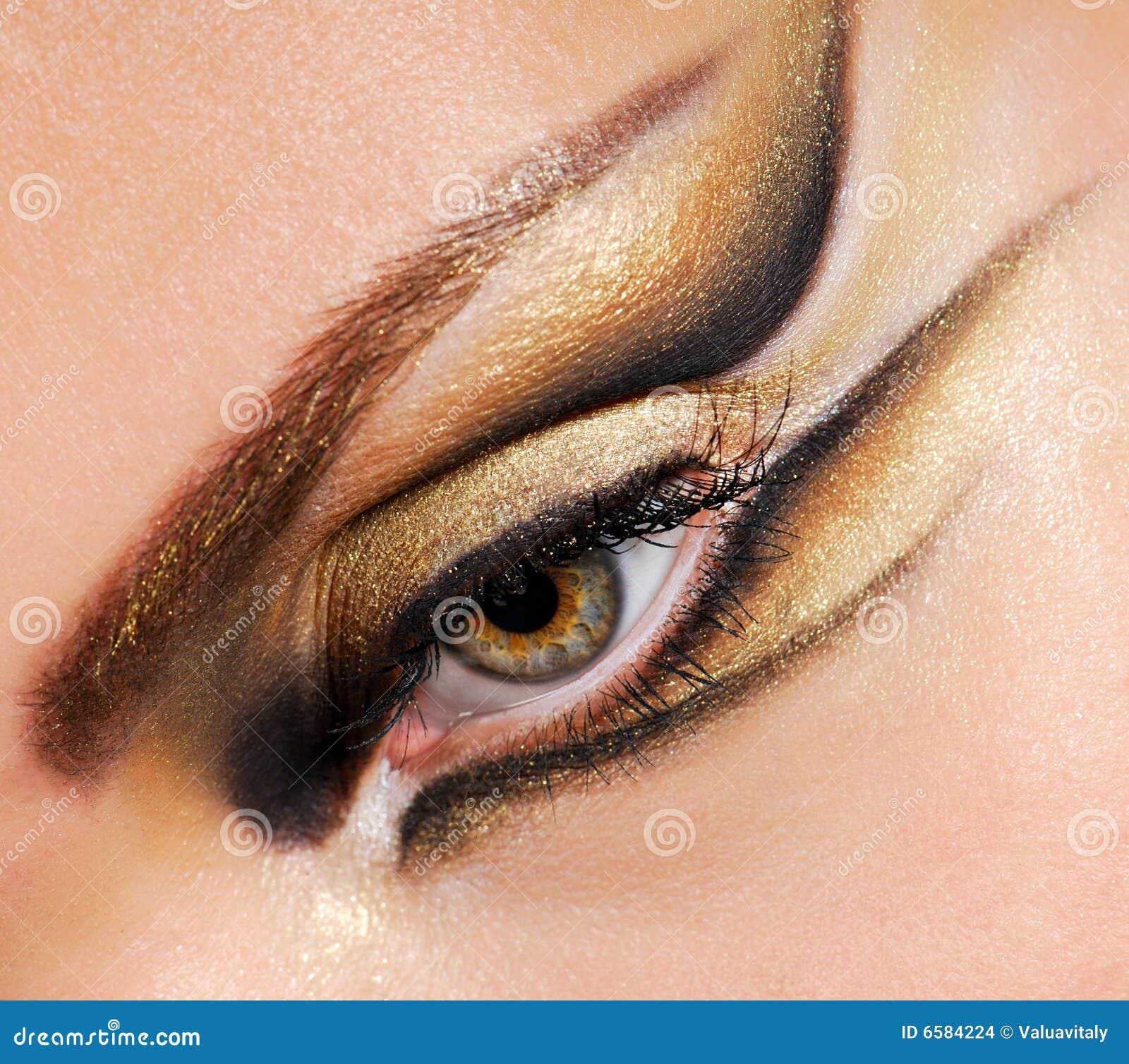 Occhio della donna del primo piano