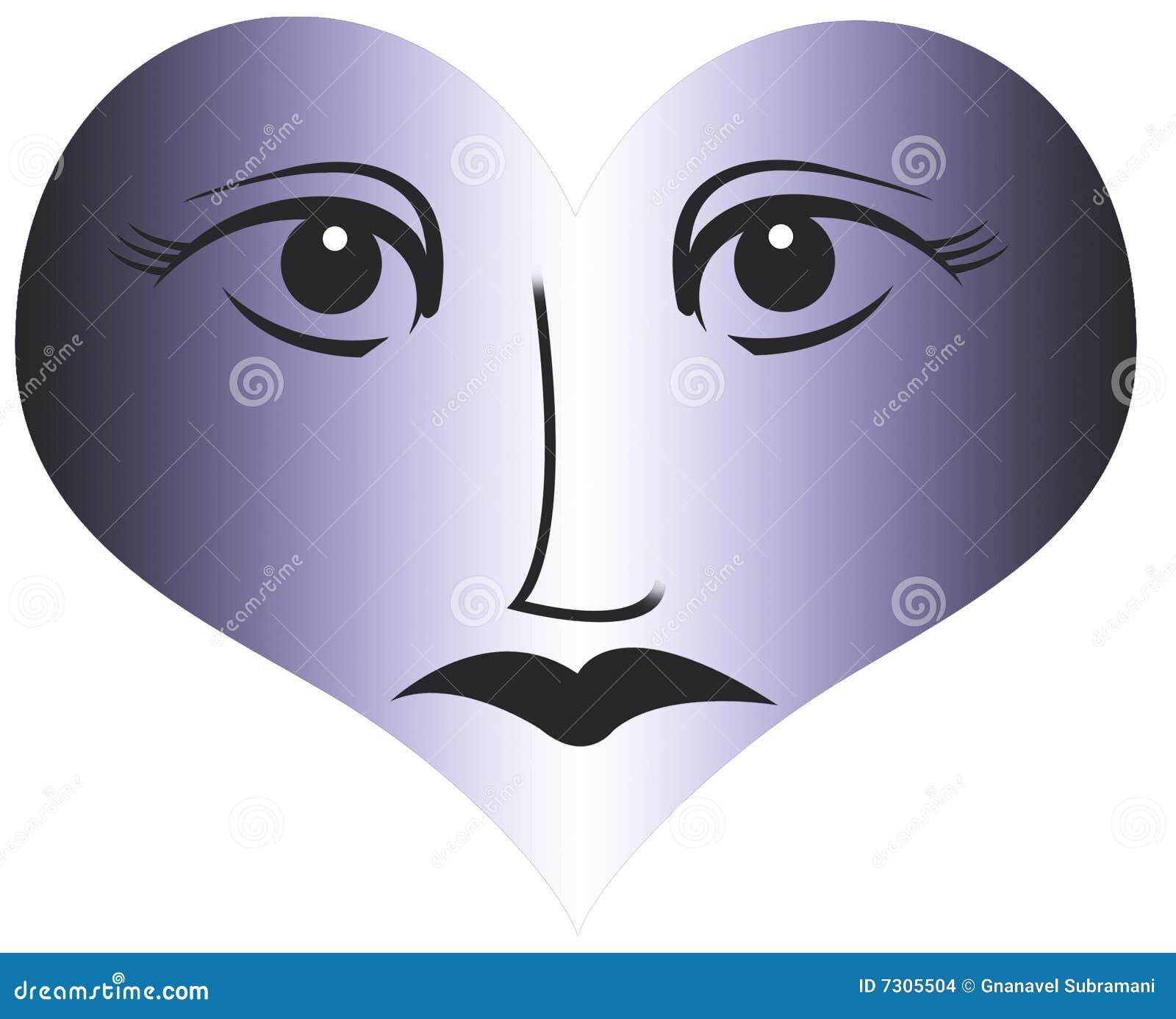 Occhio e priorità bassa di amore