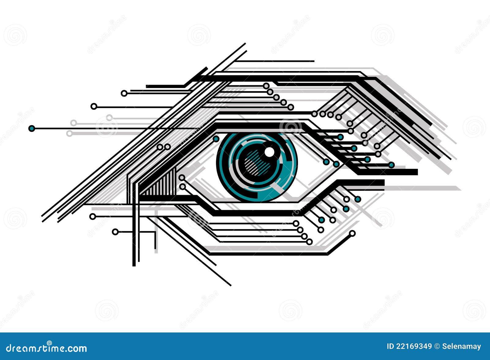Occhio stilizzato di tecnologia concettuale illustrazione for Immagini vector