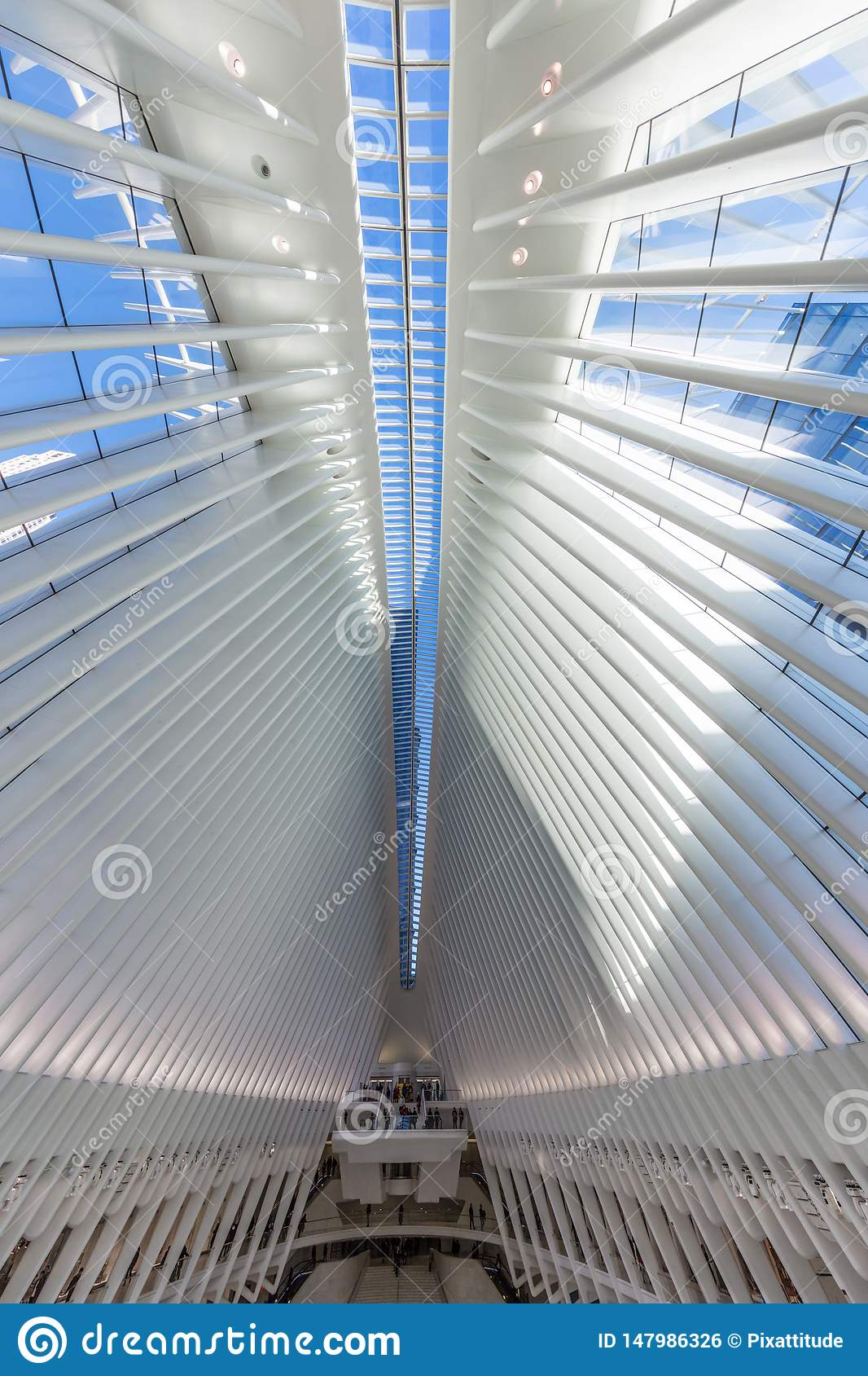 Occulus world trade center stacji Manhattan punkty zwrotni Nowy Y