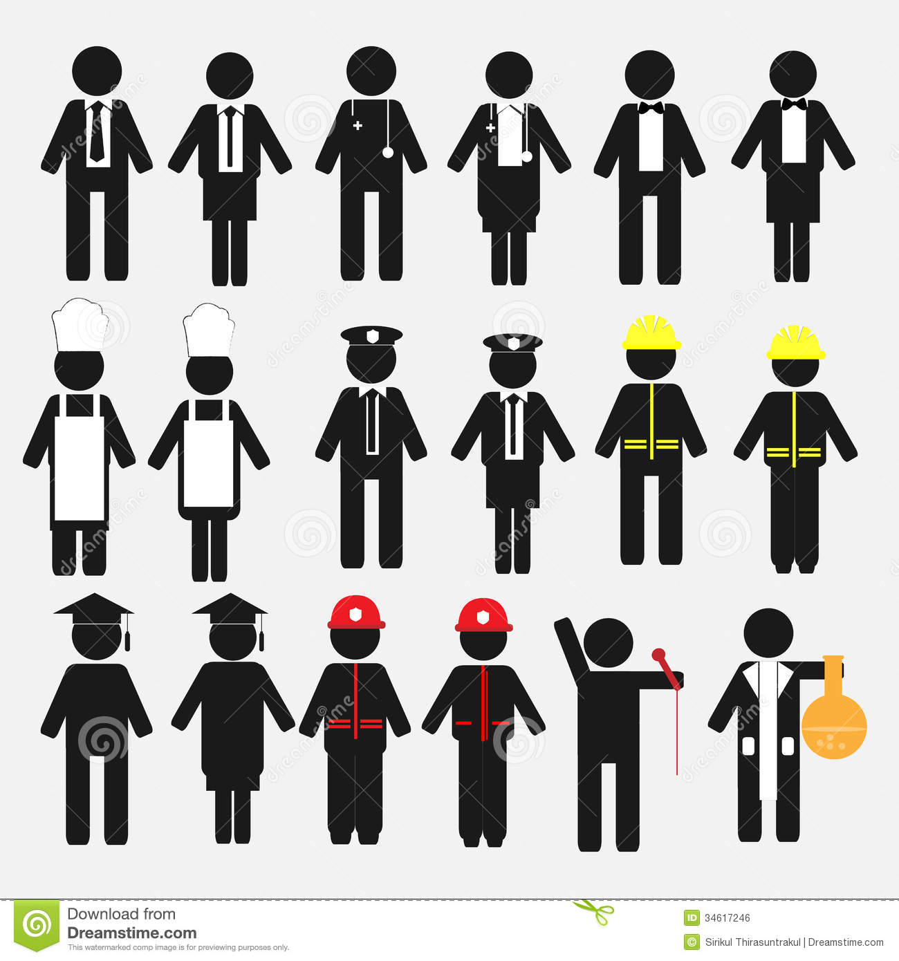 Royalty Free Stock Image Occupation Icon Set Professional Business Concept Image34617246 on stick figure on fire