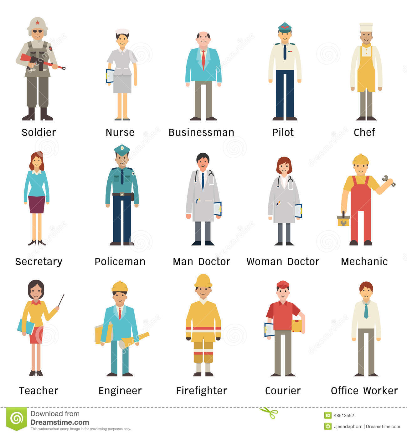 Occupation Set Stock Vector Illustration Of Medical