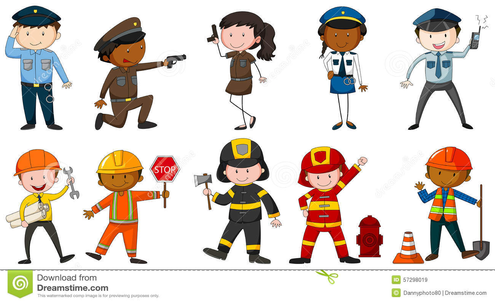 Line Art Jobs : Occupation stock vector illustration of wallpaper