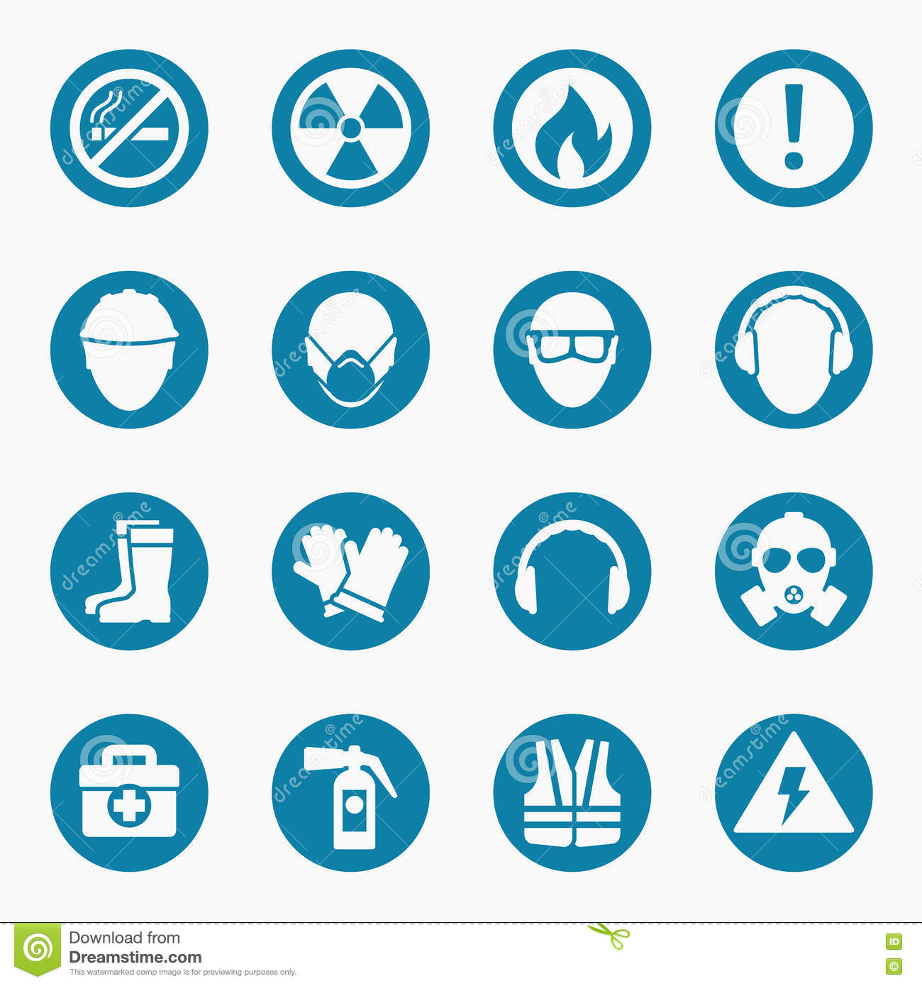 Health and safety signs stock vector. Illustration of british.