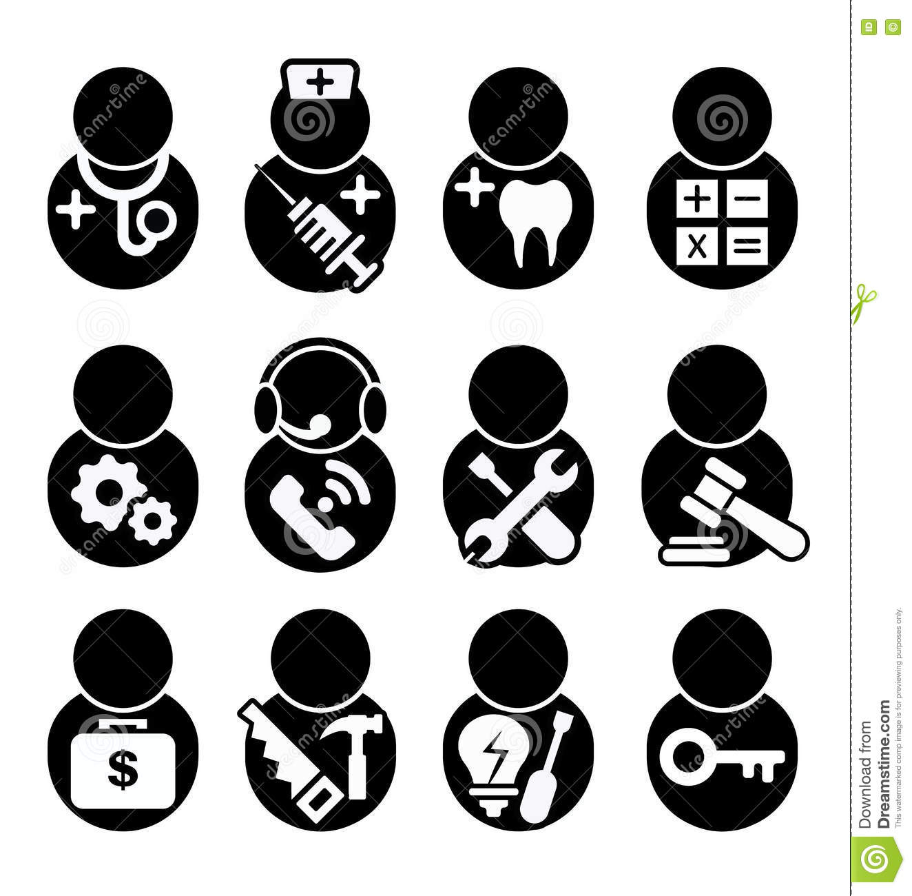 Occupations icon stock vector. Illustration of dentist ...