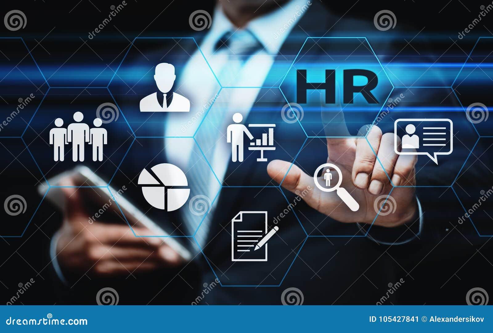 Occupazione di assunzione della gestione di ora delle risorse umane che caccia teste concetto