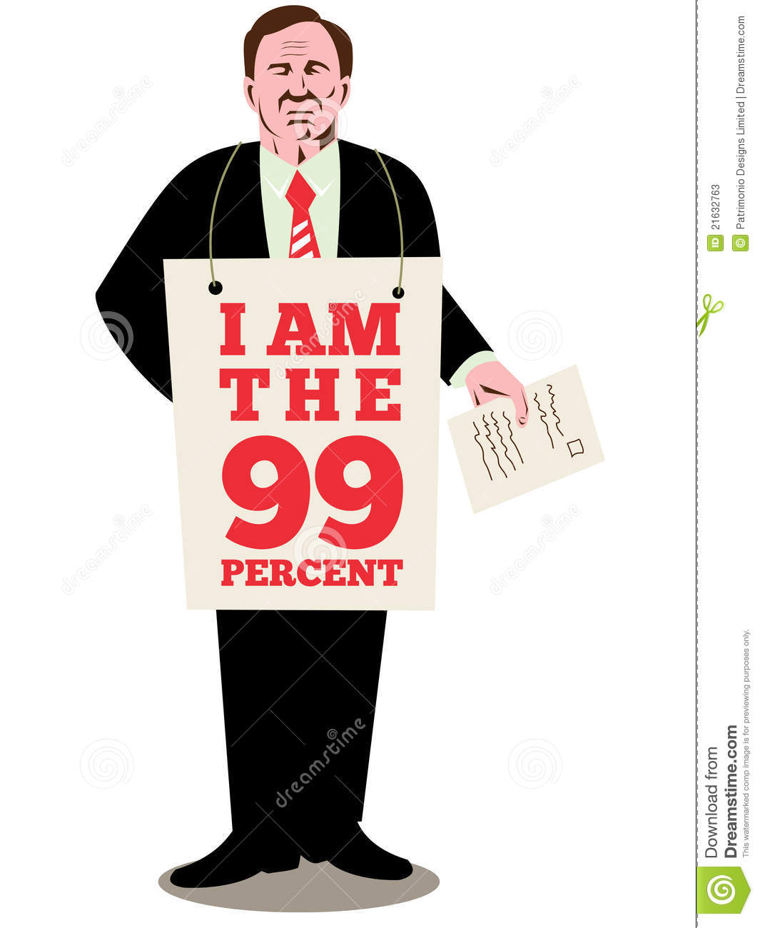 Occupy wall street american worker stock image for Z table 99 percent