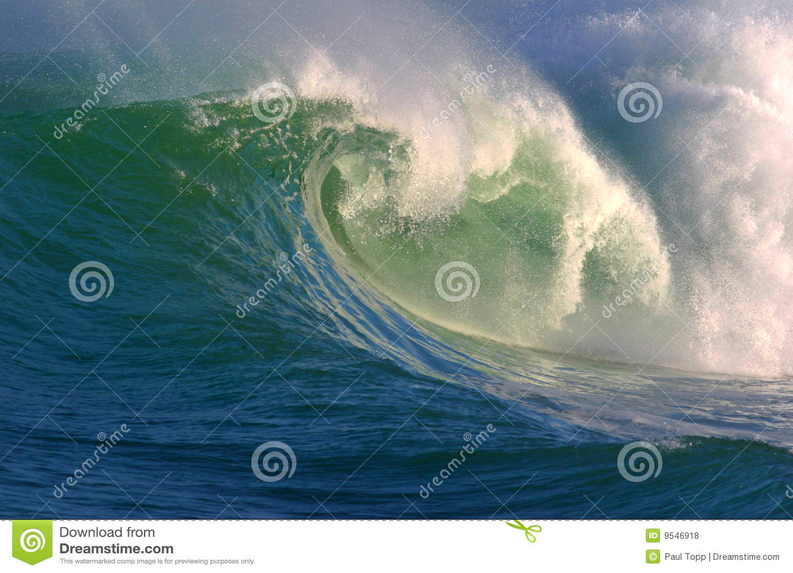 Oceaan Golf van Water