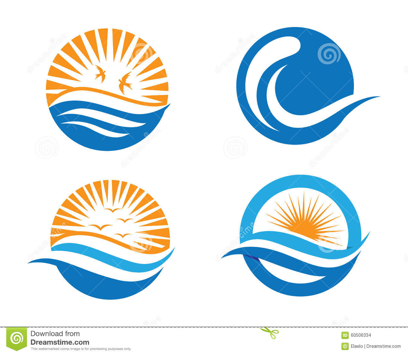 Ocean beach wave logo stock vector. Image of limitless ...