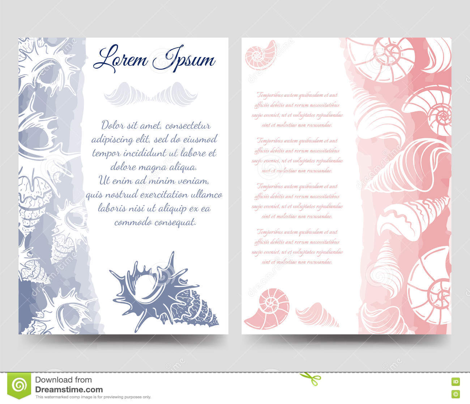 ocean brochure template with sea shells stock vector image 79659793