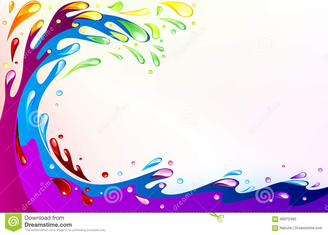 Ocean Colored Stock Vector - Image: 66870490