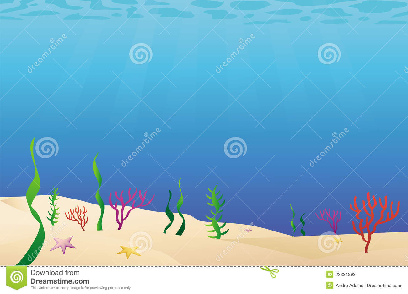 Ocean floor sea bed stock vector. Illustration of cartoon ...