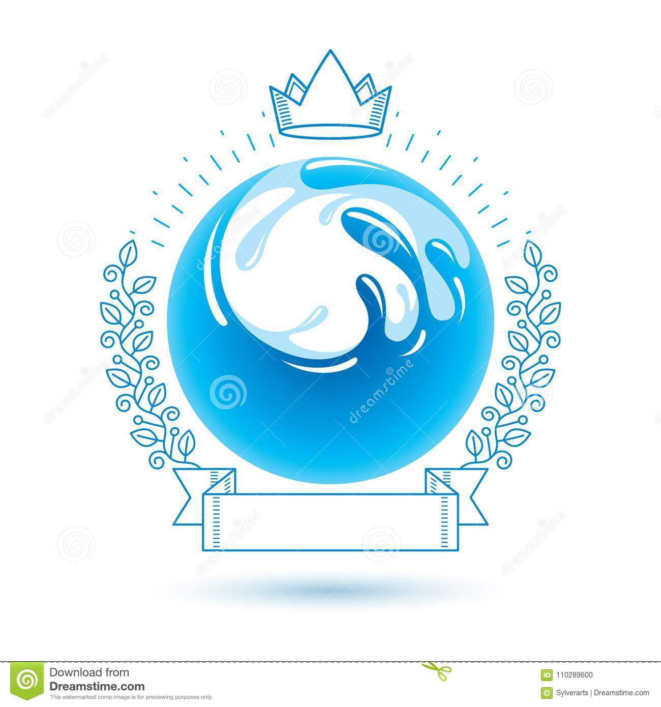 Ocean freshness theme vector symbol for use in spa and resort or ocean freshness theme vector symbol for use in spa and resort or biocorpaavc Choice Image