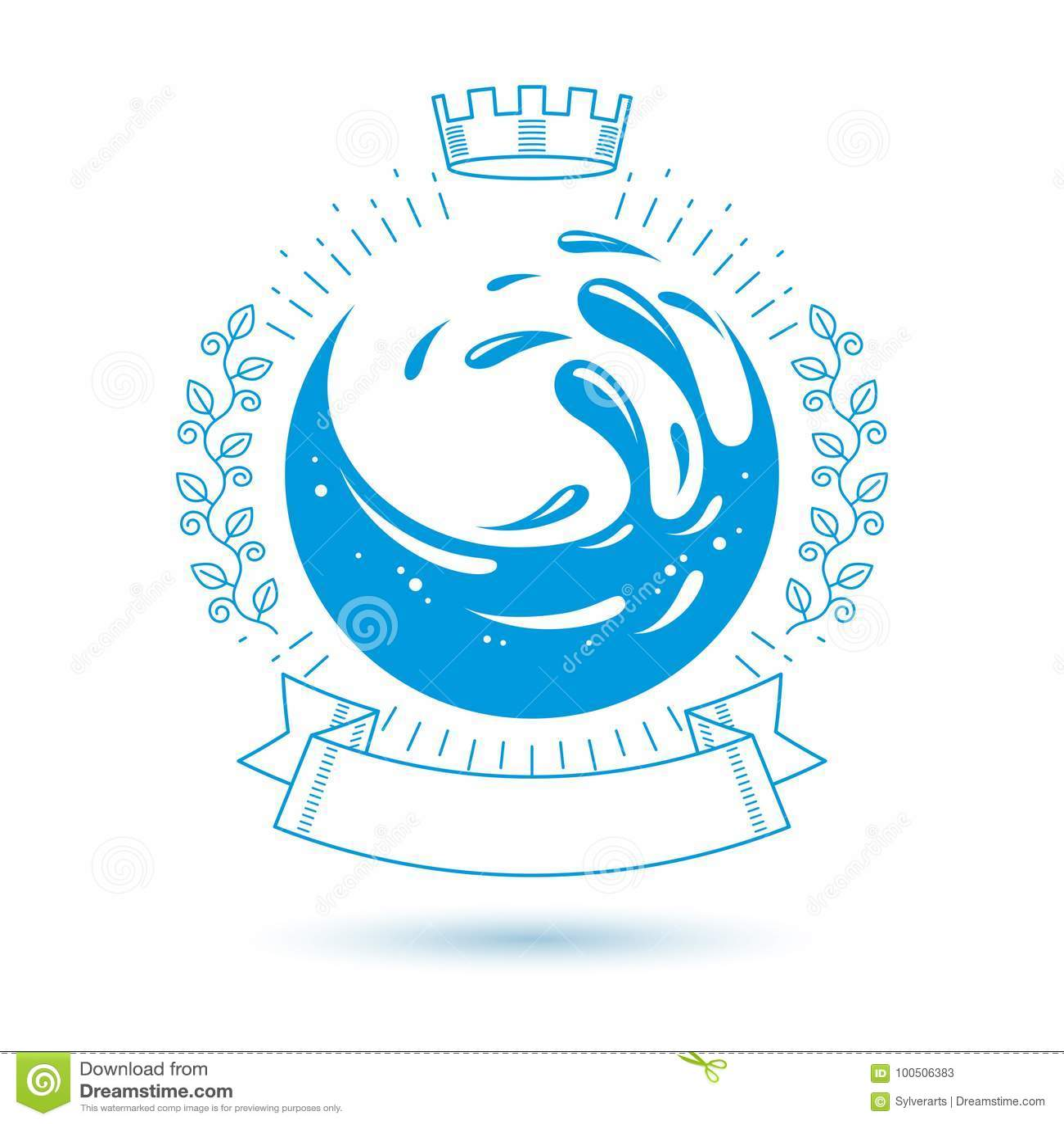 Ocean freshness theme vector symbol for use in spa and resort or ocean freshness theme vector symbol for use in spa and resort or biocorpaavc Gallery