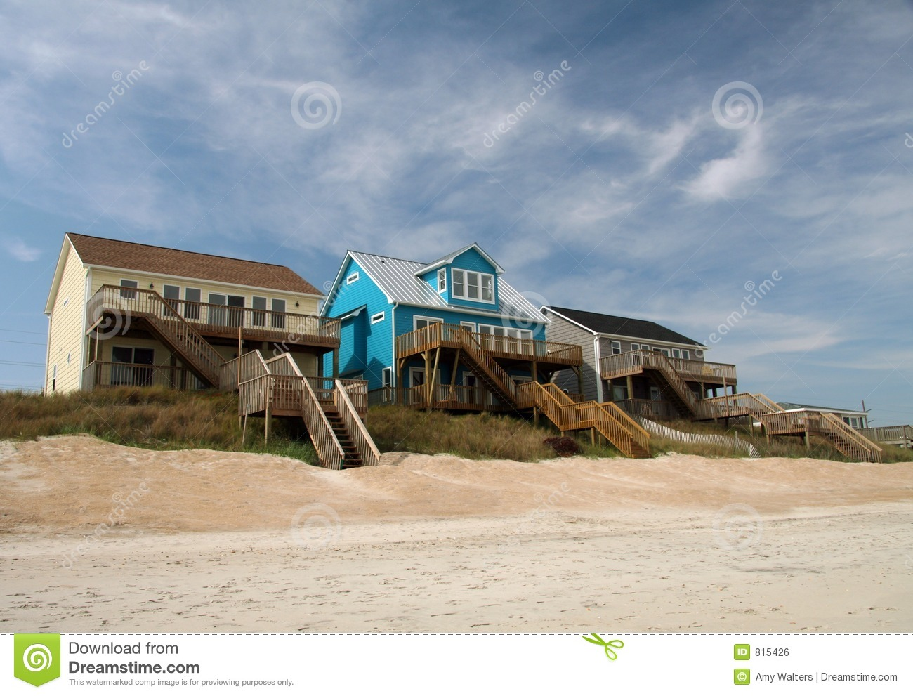 ocean front beach houses royalty free stock image image