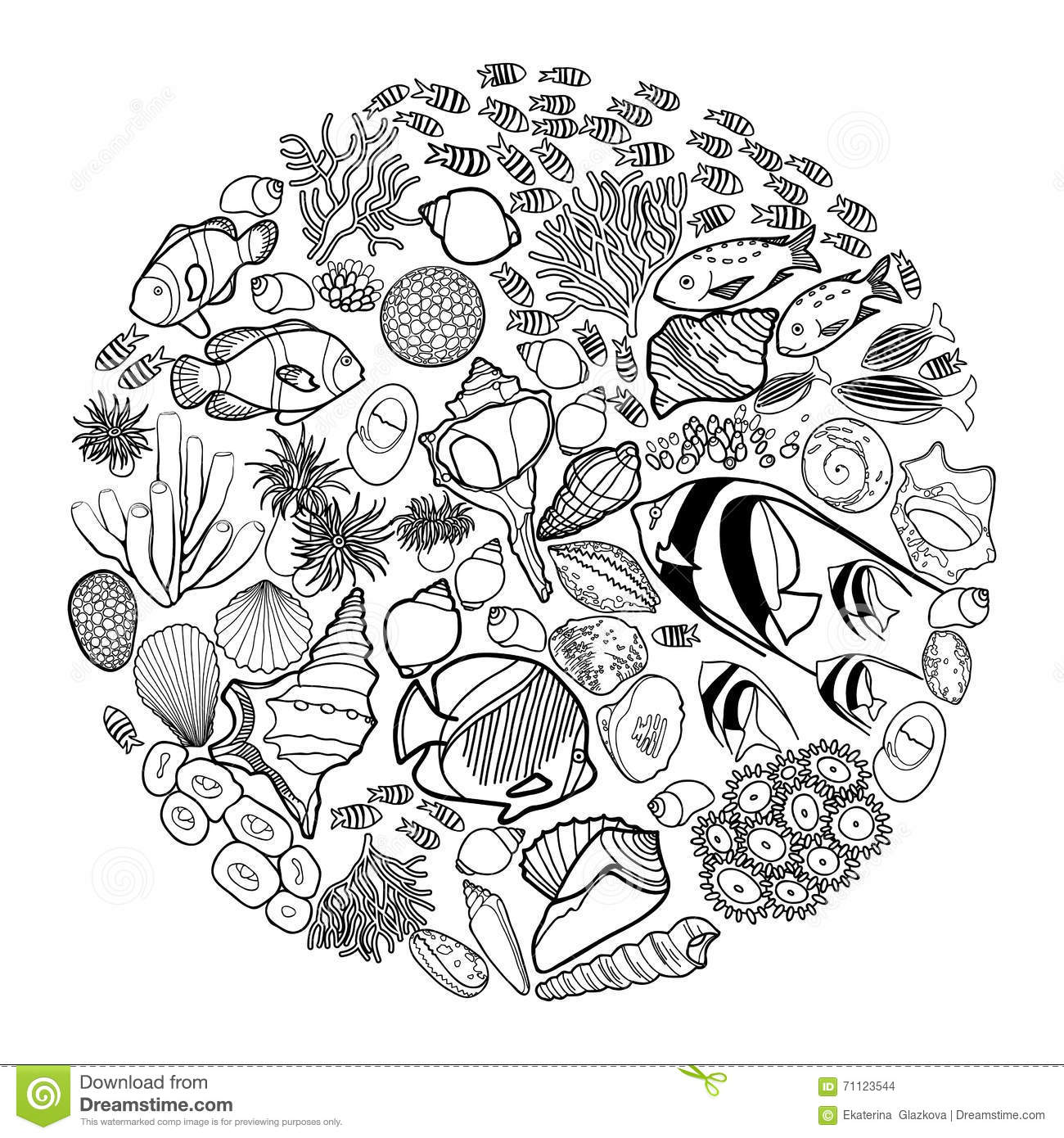 ocean backround coloring pages - photo #22