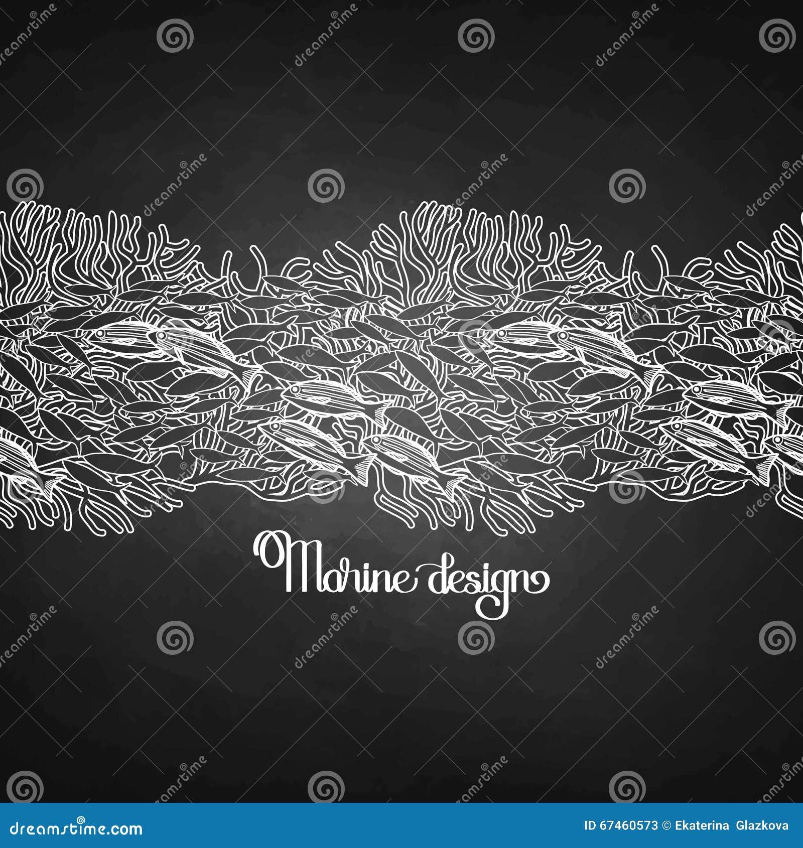 Graphic Line Design Art : Ocean line art design stock vector image of