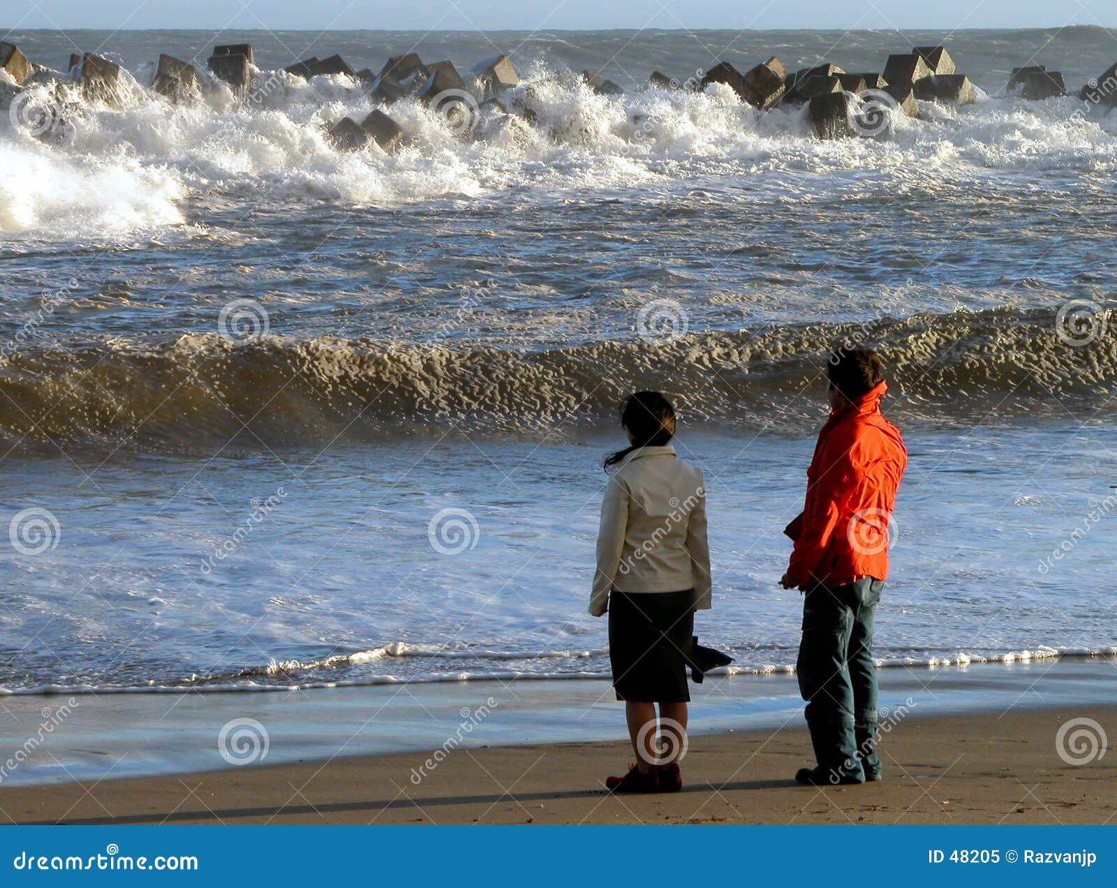 Ocean na plaży