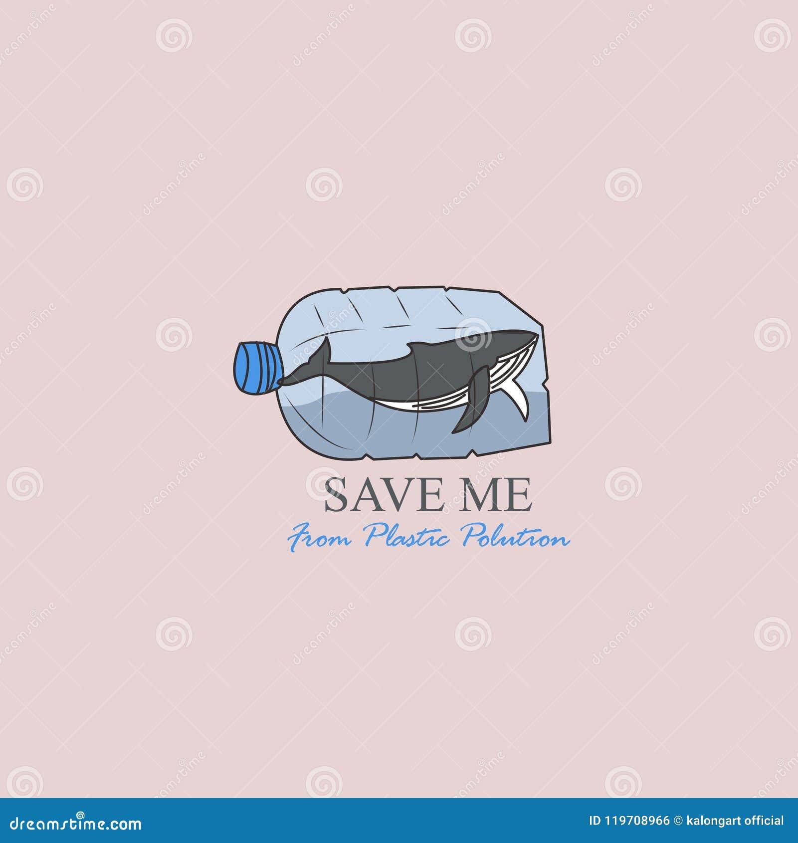 Ocean plastic pollution - vector illustration .template. vector. editable.