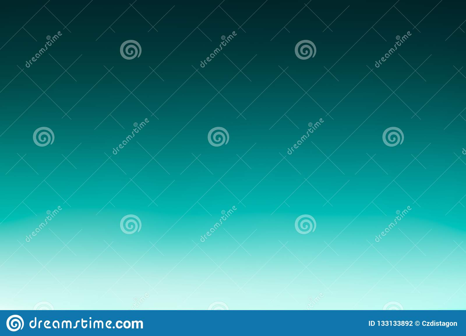 Ocean sea or sky blue azure turquoise watercolor abstract background. Horizontal watercolour gradient fill. Piece of heaven sea oc