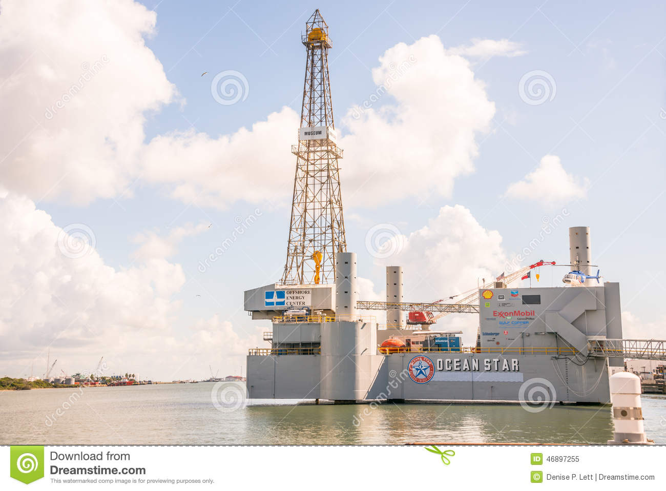 Ocean Star Offshore Drilling Rig And Museum Editorial Image Image 46897255