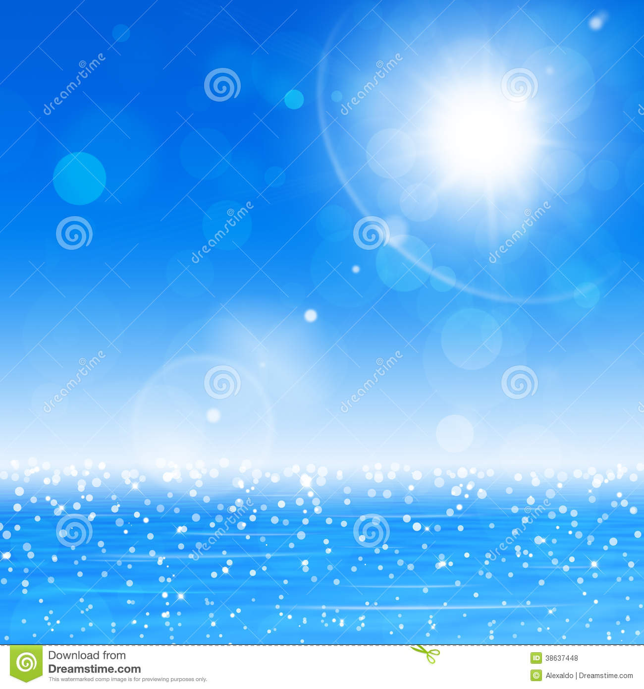 Nature Images 2mb: Ocean Sun Blurry Lights Stock Photo. Image Of Background