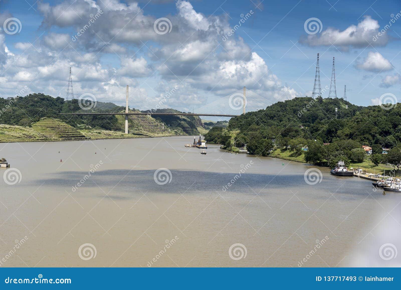 Centennial Bridge over the Panama Canal from Island Princess