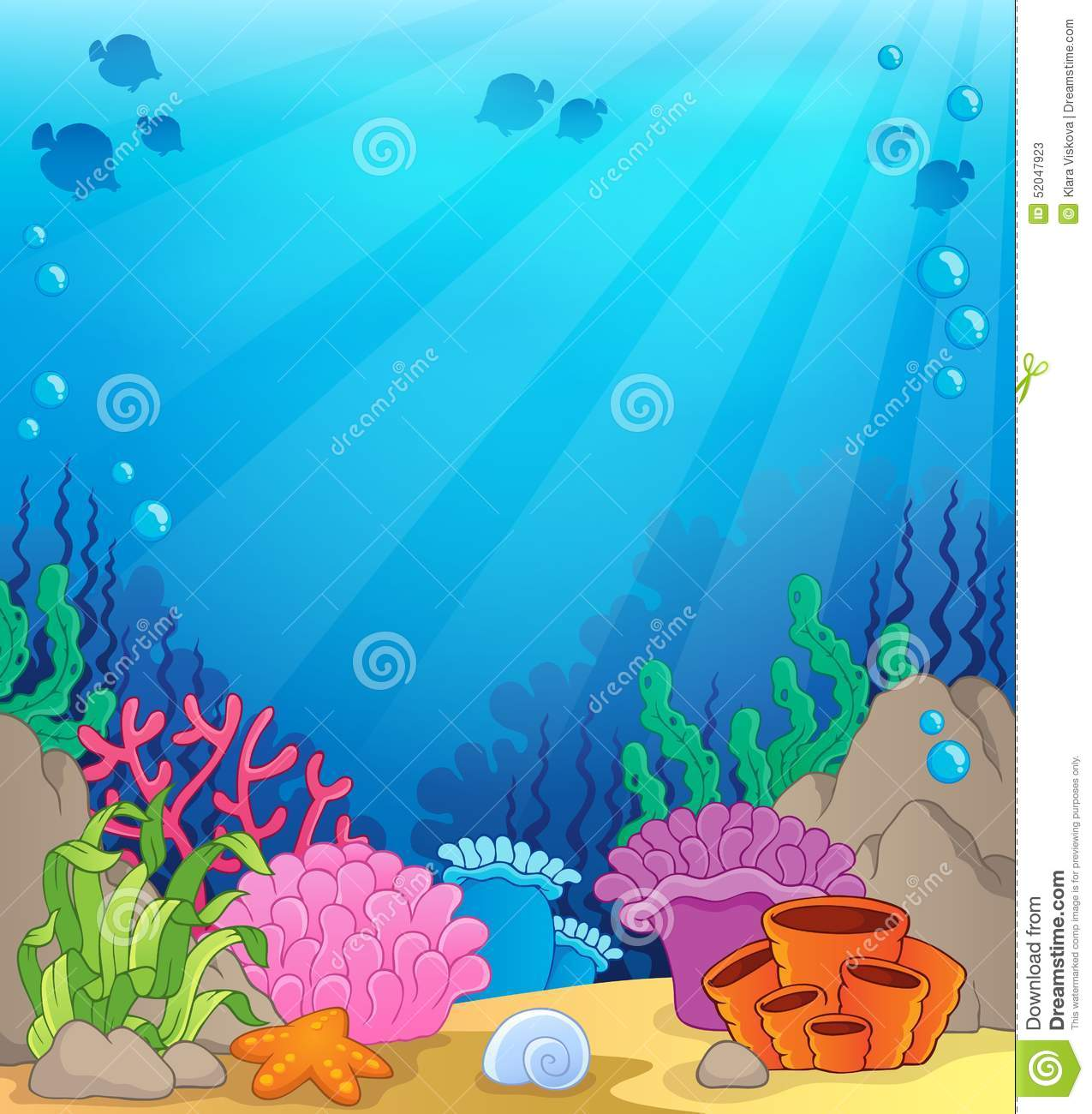 ocean underwater theme background 4 stock vector