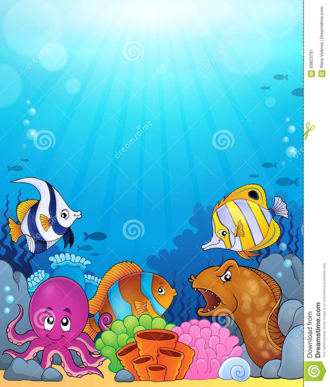 ocean underwater theme background 5 stock vector