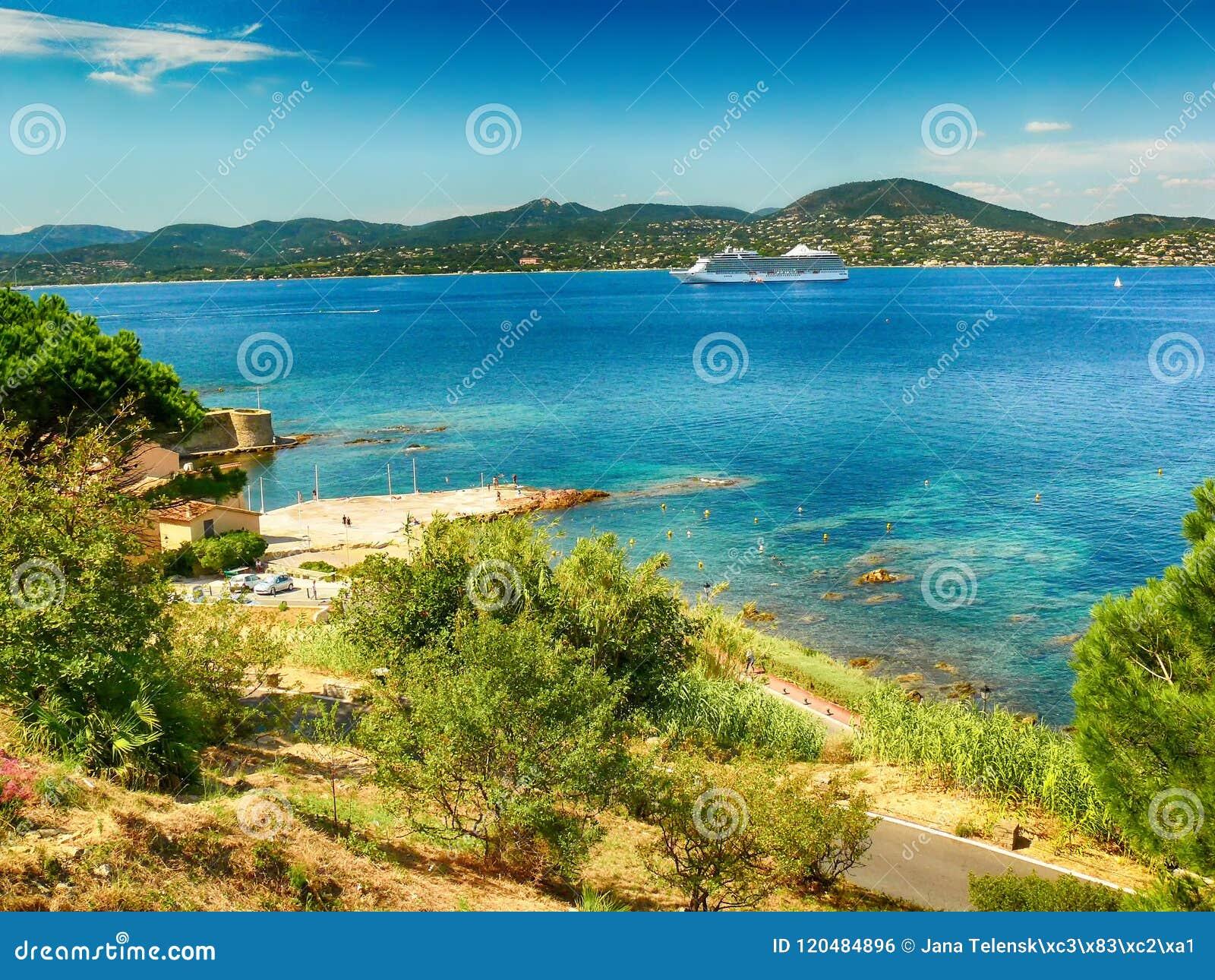 Ocean view in Saint Tropez in France.