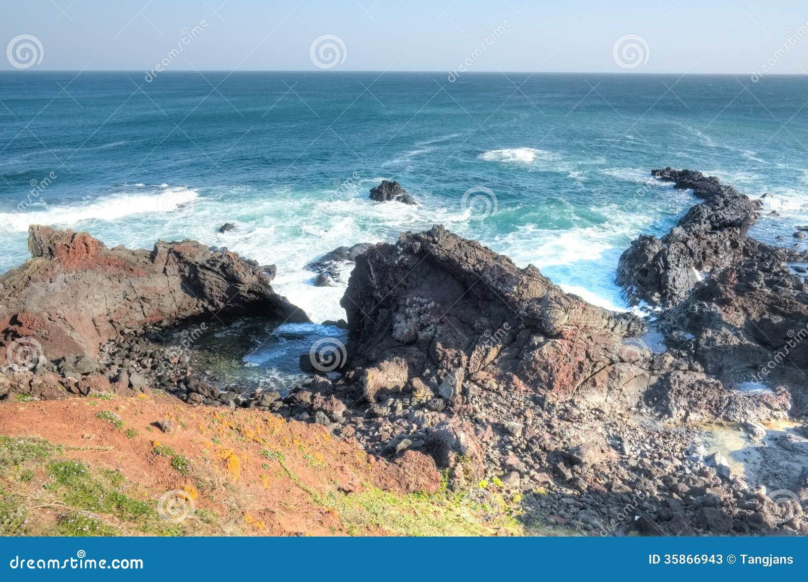 Ocean view at Seopjikoji, Jeju Island