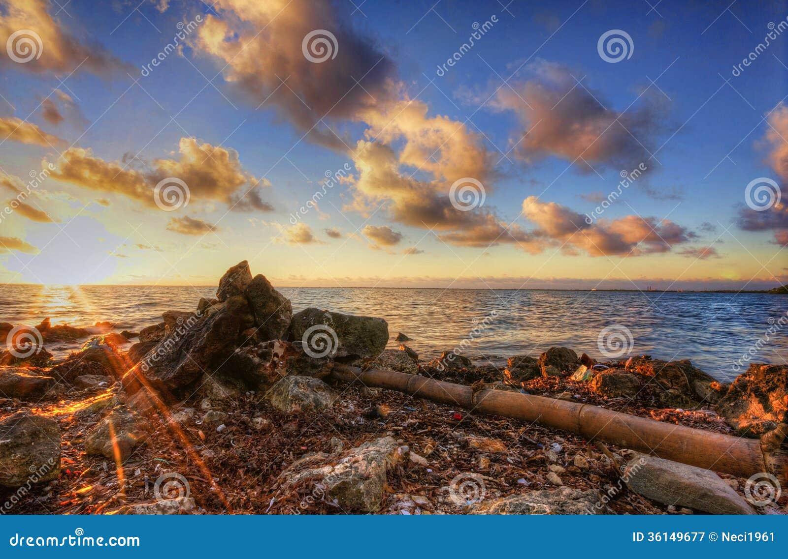 Ocean view at sunrise