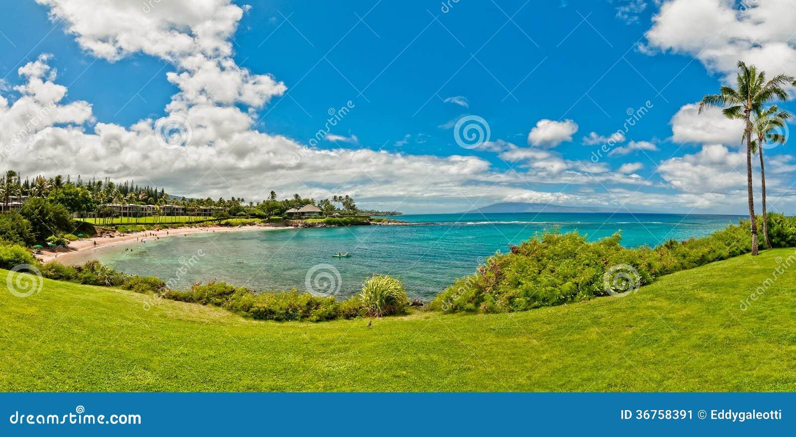 Ocean View In West Maui Kaanapali Beach Resort Area Stock
