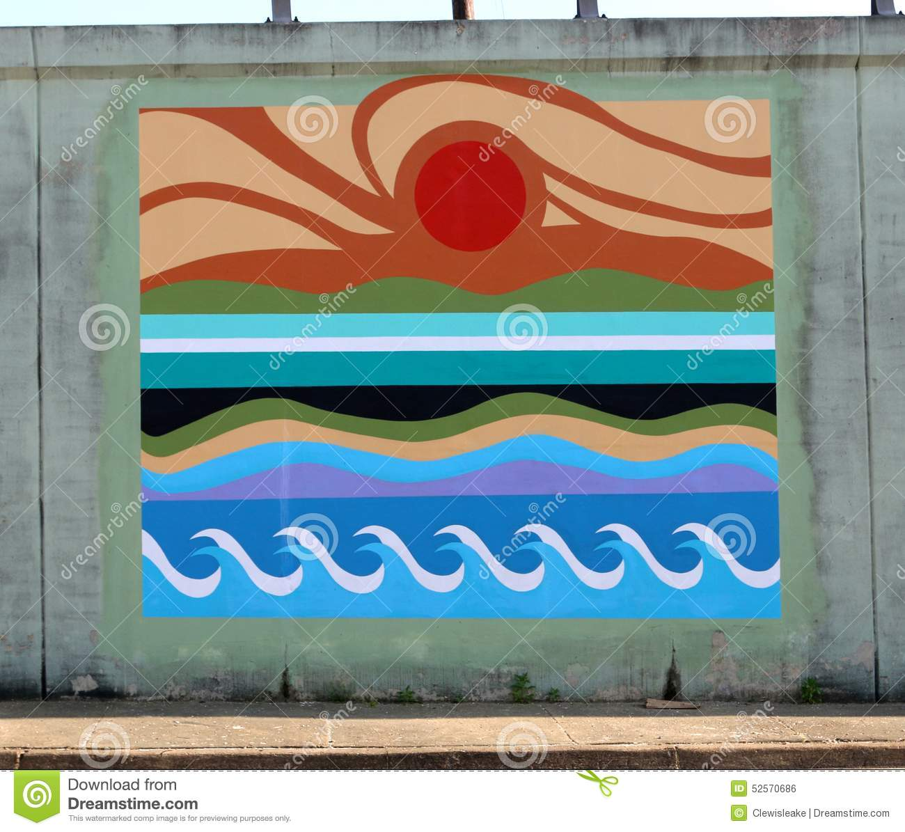 ocean wave pattern wall mural on a bridge underpass on james rd in ocean wave pattern wall mural on a bridge underpass on james rd in memphis tn
