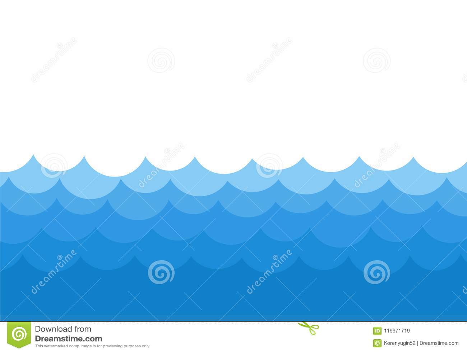 ocean waves template background vector stock illustration stock