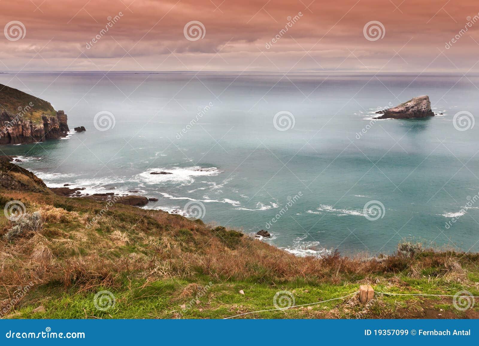 Oceano Atlântico em um dia tormentoso