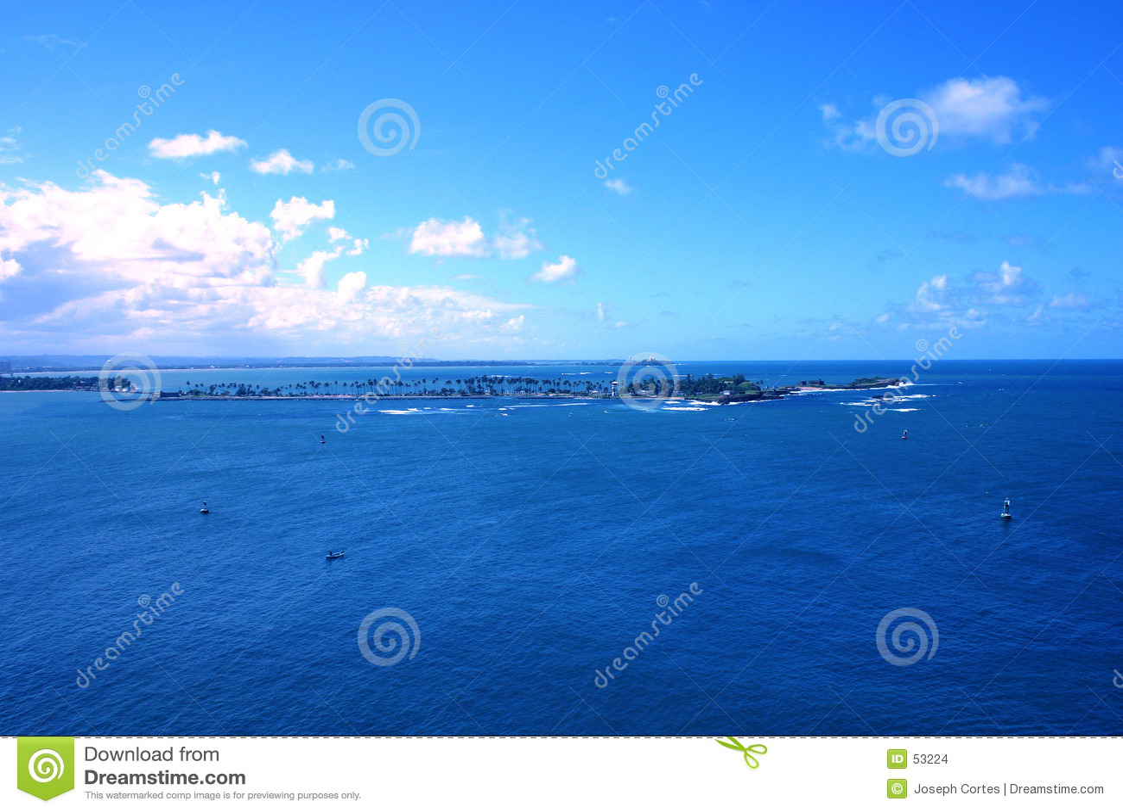 Oceano blu tropicale